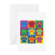 Pop Art Paws Greeting Cards