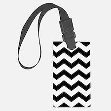 Black And White Chevron Luggage Tag