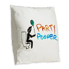 Burlap Throw Pillow - Party Pooper