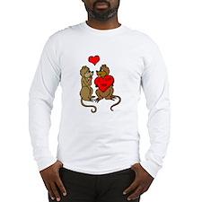 Chipmunks In Love Long Sleeve T-Shirt