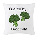 Fueled by Broccoli Woven Throw Pillow