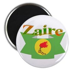 "Zaire ribbon flag 2.25"" Magnet (10 pack)"