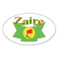 Zaire ribbon flag Decal