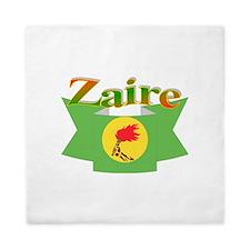 Zaire ribbon flag Queen Duvet