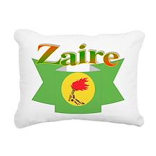 Zaire ribbon flag Rectangular Canvas Pillow