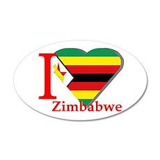 I love Zimbabwe Wall Sticker