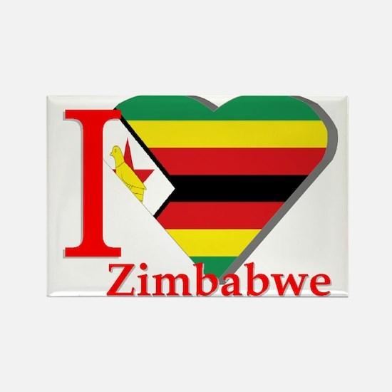 I love Zimbabwe Rectangle Magnet