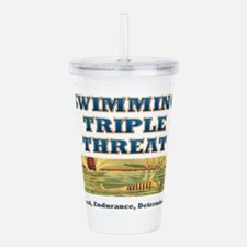 Swimming Triple Threat Acrylic Double-wall Tumbler