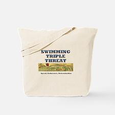 Swimming Triple Threat Tote Bag