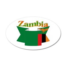Ribbon Zambia Wall Sticker