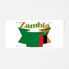 Ribbon Zambia Aluminum License Plate