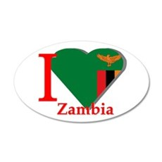 I love Zambia 20x12 Oval Wall Decal