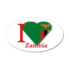 I love Zambia 35x21 Oval Wall Decal
