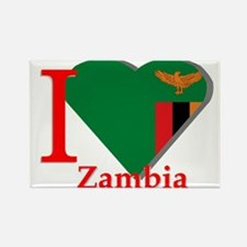 I love Zambia Rectangle Magnet