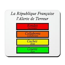 French Terror Alert Mousepad