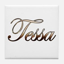 Gold Tessa Tile Coaster