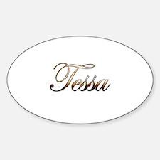 Gold Tessa Decal