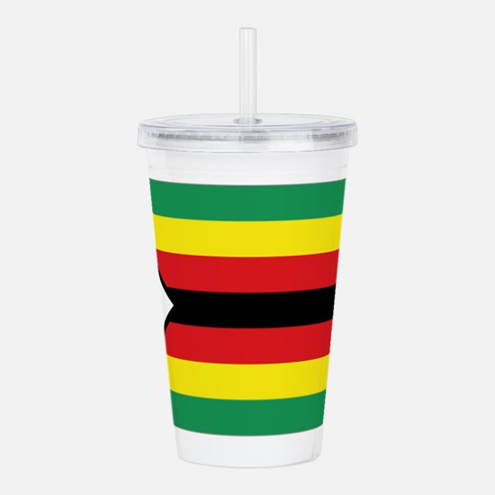 Flag Zimbabwe Acrylic Double-wall Tumbler
