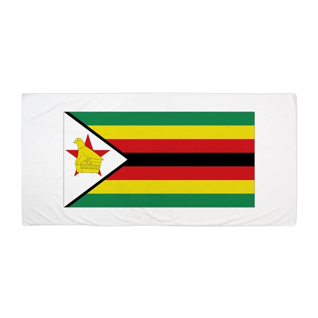 zimbabwe flag coloring page - flag zimbabwe beach towel by allcountries flagwear