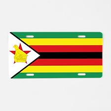 Flag Zimbabwe Aluminum License Plate