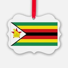 Flag Zimbabwe Ornament