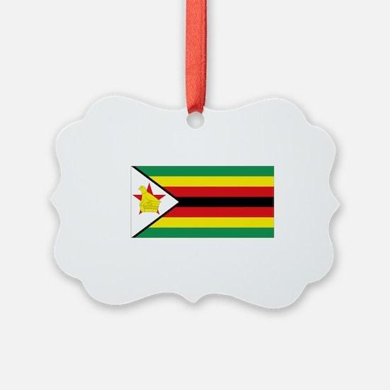 Flag Zimbabwe Ornament