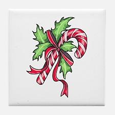 Candy Cane Tile Coaster