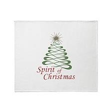 Spirit Of Christmas Throw Blanket
