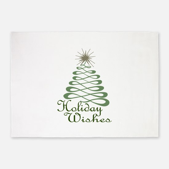 Holiday Wishes 5'x7'Area Rug