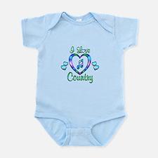I Love Country Infant Bodysuit