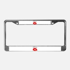 Sexy Red Lips.png License Plate Frame