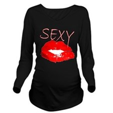 Sexy Red Lips.png Long Sleeve Maternity T-Shirt