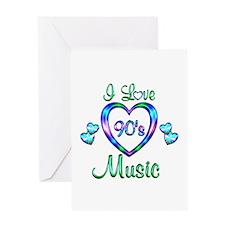 I Love 90s Music Greeting Card