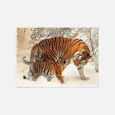 Tiger_2015_0125 5'x7'Area Rug
