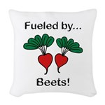 Fueled by Beets Woven Throw Pillow