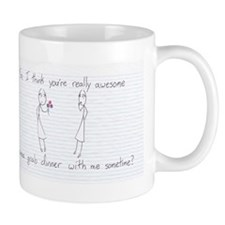 Stick Figure Valentine Girl To Girl Mugs