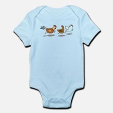 Chickens Running Body Suit