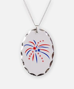 PATRIOTIC FIREWORKS Necklace