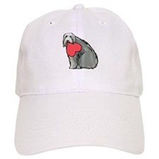 Beardie with Heart Baseball Cap