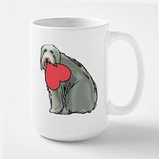 Beardie with Heart Large Mug