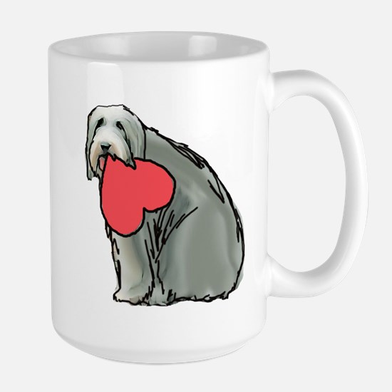Beardie with Heart Large Mug