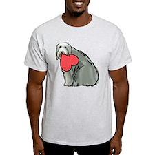 Beardie with Heart T-Shirt