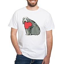 Beardie with Heart Shirt