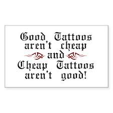 Good Tattoos Rectangle Decal