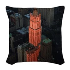 New York Skyscraper-Stunning! Woven Throw Pillow