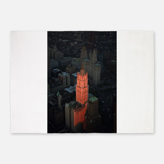 New York Skyscraper-Stunning! 5'x7'Area Rug