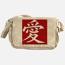 Love - Japanese Kanji Script Messenger Bag