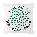 Fueled by Whirled Peas Woven Throw Pillow