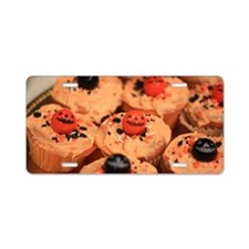 Halloween cupcakes Aluminum License Plate