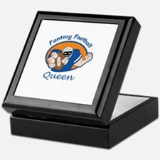 FANTASY FOOTBALL QUEEN Keepsake Box